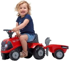 Rode Falk Case IH Trap-Tractor + Aanhanger + accessoires