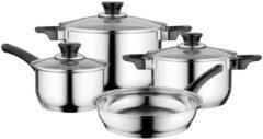 Zilveren BergHOFF Essentials 7-delige kookpottenset Gourmet