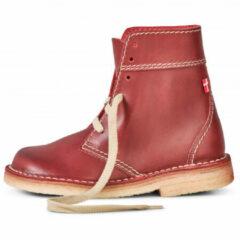 Rode Duckfeet - Faborg - Rijglaarzen maat 36 roze/rood