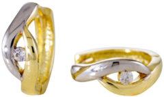 Gold Collection Gouden 207.0153.12 Oorbellen zilver met zirkonia - 12 mm