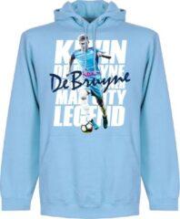 Retake De Bruyne Legend Hoodie - Lichtblauw - M