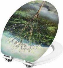 Groene Cornat 4 Seasons 3D decor toiletbril
