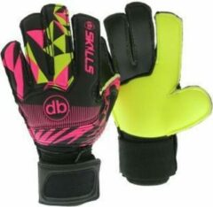 Roze DE Ballenzaak Keepershandschoenen fingersave db skills yp junior Maat 3