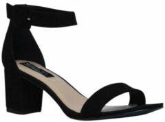 Sacha - Dames - Minimal sandalen met hak zwart - Maat 39