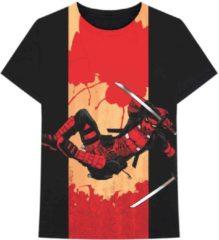 Marvel Deadpool Heren Tshirt -S- Deadpool Samurai Zwart