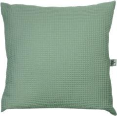 Groene BINK Bedding Sierkussen Wafel (Pique) Olijf 50 x 50 incl vulling