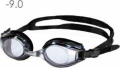 Lovetoswim.nl Zwembril op sterkte -9.0 (smoke)