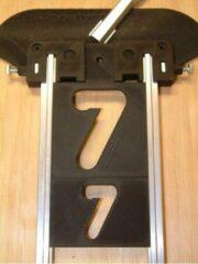 Milescraft Frees getallen 38 + 63 mm, verticaal, 20 delige set