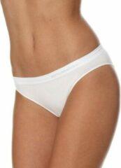 Brubeck Dames Ondergoed Slip model Bikini - Naadloos Elastisch Katoen - 2 Pack - Wit - S