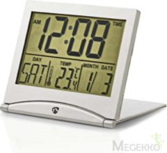 Nedis CLDK002SR Digitale Reiswekker Datum/temperatuur Zilver