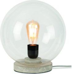 Grijze Tafellamp Warsaw - Transparant - Grijs - Glas/cement - 32cm - It's About RoMi