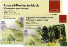 Witte Ami Aquarel Ansichtkaarten 300 gram 20 vel