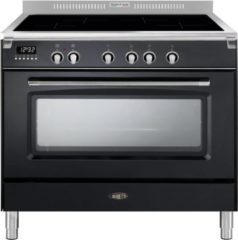 Antraciet-grijze Boretti CFBI901AN fornuis inductie 90cm 1 oven antraciet