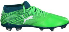 Fußballschuhe One 18.2 FG mit Spandex-Socke 104533-01 Puma Green Gecko-Puma White-Deep Lagoon