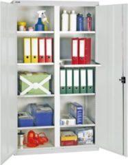 Stumpf Metall Stumpf® Serie 3000 Werkzeugschrank mit Mitteltrennwand und 8 Wannenböden, lichtgrau - 180 x 100 x 50 cm