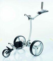 Zilveren GolfTed Elektrische golftrolley - GT-AR Lichtgewicht ALUMINIUM Elektrische golftrolley met AFSTANDBEDIENING