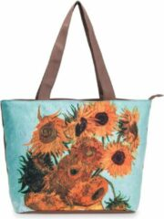 Robin Ruth Shopper Tas Medium 48x31cm Van Gogh - Vaas met 12 Zonnebloemen