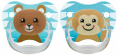 Dr. Brown's Dr Brown's Fopspeen Prevent Animal Faces F2 Blauw (2st)
