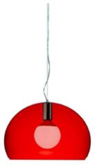 Kartell FL/Y pendellamp KA 9053K3 Transparant rood