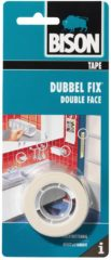 Naturelkleurige Bison double fix dubbelzijdige tape - 1 5 meter x 19 mm.