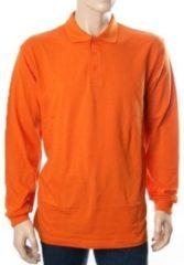 Bc Oranje polo t-shirt met lange mouw L
