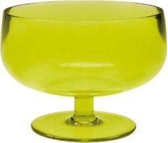 Groene Zak!Designs Stacky Stem IJscoupglas - 10 cm - Lime - Set van 6 stuks