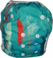 Blije Billetjes NIEUW!! Wasbare Zwemluier Klein Rode en Witte Veertjes