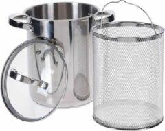 Roestvrijstalen LOKS Aspergepan met Glazen Deksel (4,2 liter)