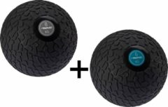 Zwarte Fitness Avento Slam Bal met Profiel 6 & 8 Kilo - Bundelpakket