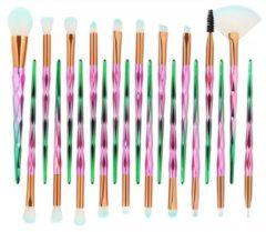 Universeeel Make-Up Kwasten Set 20 Stuks - Groen