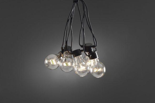 Afbeelding van Konstsmide 2379-100 Party-lichtketting Buiten Energielabel: A (A++ - E) werkt op het lichtnet 20 +160 Gloeilamp, LED Helder Verlichte lengte: 9.5 m