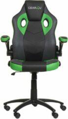 Gear4U Gambit Pro gaming stoel - gamestoel / game stoel / bureaustoel - zwart / groen