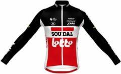 Rode Fietsshirt Soudal-Lotto Thsq Trui Lm Lr X21 - Maat: L