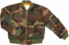 Groene Fostex Garments UIT Fostex kinder MA-1 bomber jack woodland camo