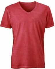 James & Nicholson Fusible Systems - Heren James and Nicholson Gipsy T-Shirt (Donkerrood)