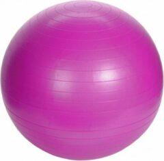 Merkloos / Sans marque Grote roze fitnessbal/yogabal inclusief pomp 75 cm sport fitnessartikelen - Fitness/sport artikelen - Homegym producten