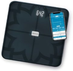 Medisana BS 450 sw Analyse-personenweegschaal Weegbereik (max.): 180 kg Zwart Met Bluetooth, ITO-sensoren