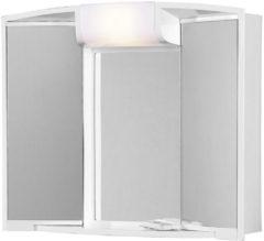 Witte Spiegelkast Go By Van Marcke Angy 59x15x50cm Kunststof Verlichting 2 Legplanken