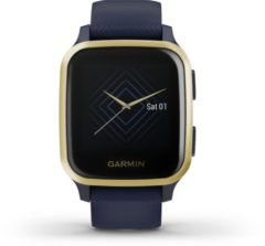 Garmin Venu Sq Music Edition - Captain Blue / Light Gold - Gps-sport-smartwatch Verbonden Met Gezondheid En Welzijn