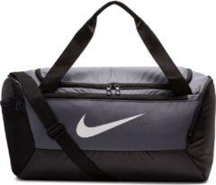 Grijze Nike Brsla S Duff - 9.0 Unisex Sporttas - Flint Grey/Black/(White) - Maat OSFA