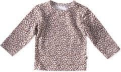 Little Label - baby - shirt - bruin, luipaard - maat 56 - bio-katoen