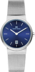 Zilveren Danish Design watches edelstalen dameshorloge Tåge Royal Blue Small IV68Q971