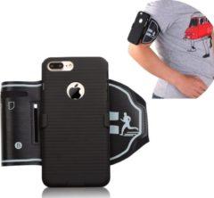 Zwarte ZT Accessoires Holster cover Sport Armband iPhone X / XS - Sportband Hardlopen met Sleutelhouder