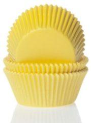 Oranje House of Marie Mini Cupcake Vormpjes Geel pk/60