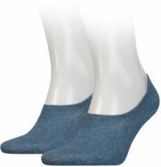 Tommy Hilfiger no-show sneaker sokken 2 paar blauw
