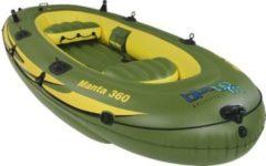 Blueborn Manta Angelboot 360x165 Ruderboot für 4 Personen Schlauchboot Boot Paddelboot mit 400kg Tragkraft