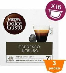 NESCAFÉ Dolce Gusto Nescafé Dolce Gusto Espresso Intenso Cups - 3 x 16 stuks