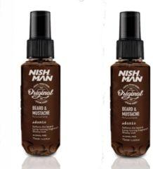 Nish Man Beard & Mustache Parfum Spray- 75 ml- 2 stuks