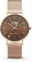 CO88 Collection Watches 8CW 10011 Horloge - Mesh Band - Ø 36 mm - Rosékleurig