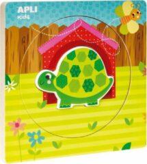 Apli Kids Houten lagen puzzel schildpad